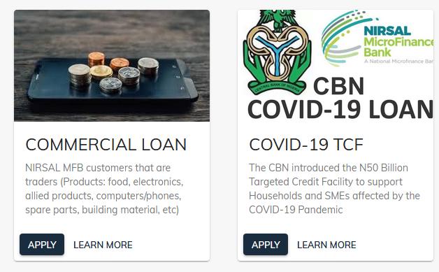 nirsal microfinance bank loan