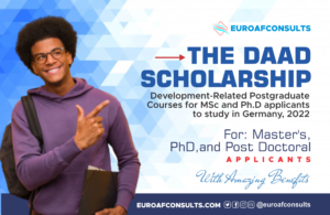 DAAD Scholarship Master of Science (MSc) and PhD in Development-Related Courses