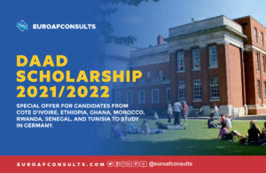 Read more about the article DAAD Scholarship 2021/2022 – Special Offer for Candidates from Africa