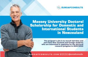 Massey University doctoral Scholarship  programme for Domestic and International Students in New zealand