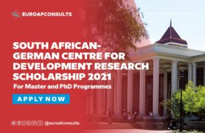 Read more about the article APPLY FOR SOUTH AFRICAN-GERMAN CENTRE FOR DEVELOPMENT RESEARCH SCHOLARSHIP 2021